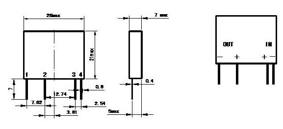 微型2a直流pcb焊接式固态继电器sdd-2ha】